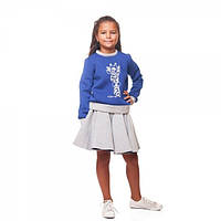 "Кофта неопрен ""Модный жирафик"" для девочки 5-10 лет (размер 110-140) ТМ Kids Couture"