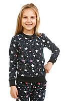 Кофта трикотажная Звезды 16-15 для девочки 5-10 лет (размер 110-140) ТМ Kids Couture