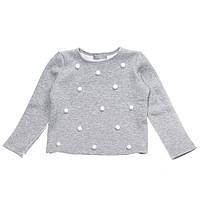 """Кофта флисовая """"Снежки"""" для девочки 4-10 лет (размер 104-140) ТМ Kids Couture"""
