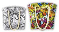 Сумка - раскраска антистресс с красками, кисточкой, глиттер в наборе