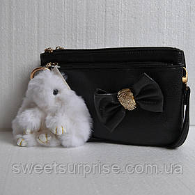 Брелок кролик 13 см. (белый)