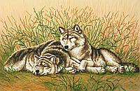 """Схема для вышивки бисером """"Волки на отдыхе"""""""