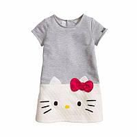Туника для девочек Hello Kitty 110-116, Серый