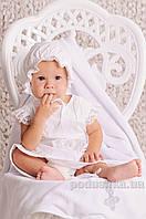 Крестильный комплект для девочки Модный Карапуз 03-00583 74