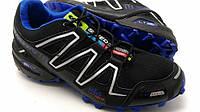 Кроссовки мужские Salomon speedcross 3 Black-blue