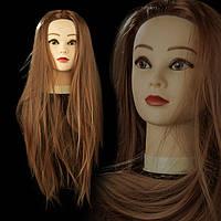 Учебная голова 30% натуральных волос,длина 65см