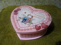 Музыкальная шкатулка  с балериной Сердечко