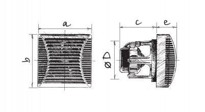 Вентилятор Blauberg Brise Max 100 размеры