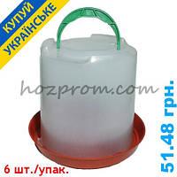 Профессиональная поилка для кур на 8 л воды с подвесом и регулировкой вылива
