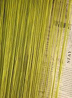 Шторы-нити (кисея) однотонные (оливковый) №19 LUX