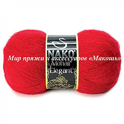 Зимняя пряжа Mohair Delicate Мохер деликат Нако, № 3641, красный