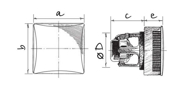 Вентилятор Blauberg Brise Magic 100 размеры