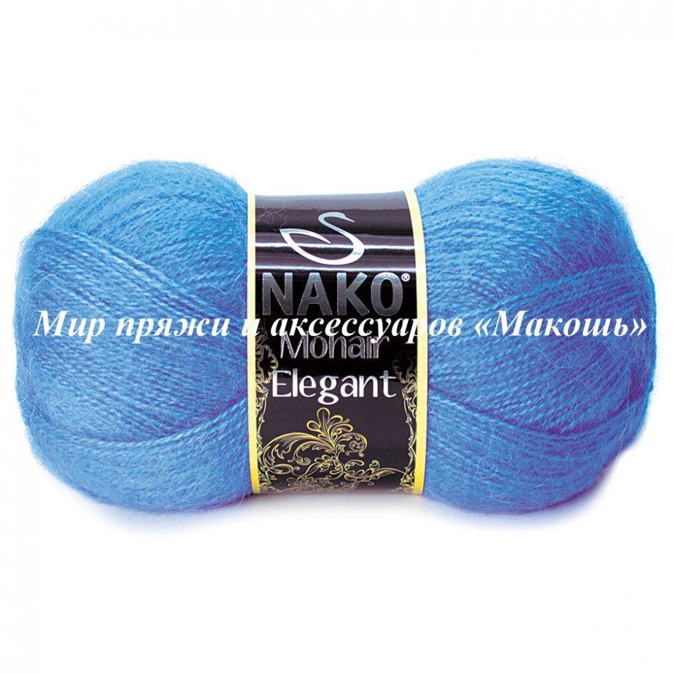 Пряжа Mohair Delicate Мохер деликат Нако, № 1256, голубой