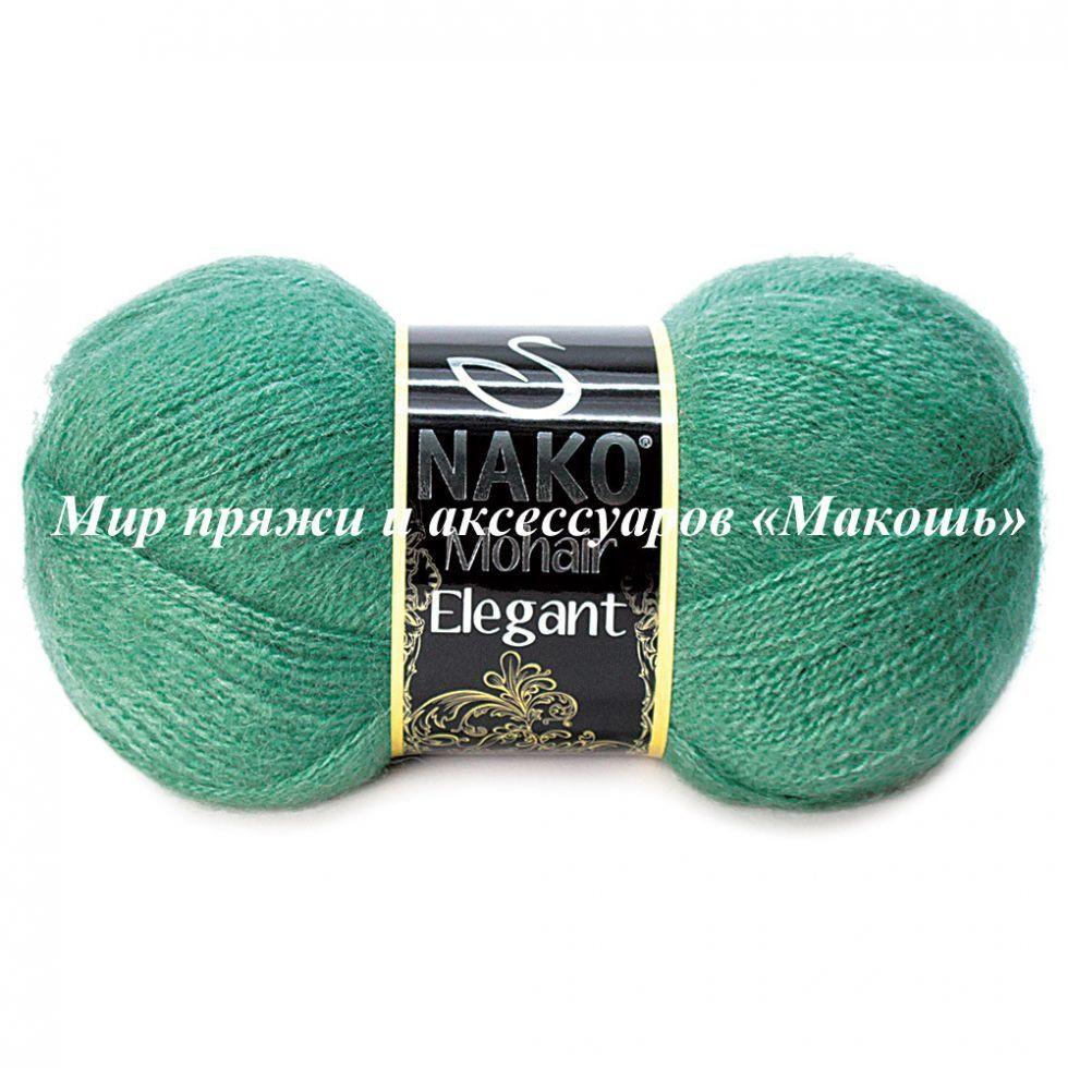Пряжа Mohair Delicate Мохер деликат Нако, № 2271, зеленый