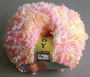 Пряжа Бэби махра, розово-персиковый