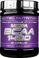 BCAA аминокислоты Scitec Nutrition Mega BCAA 1400 (180 капс)