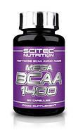 BCAA аминокислоты Scitec Nutrition Mega BCAA 1400 (90 капс)