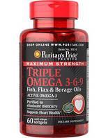 Комплекс незаменимых жирных кислот Puritan's Pride Triple Omega-3-6-9 (60 капс)
