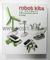 Конструктор детский развивающий на солнечной батарее - Robot Kids 6в1