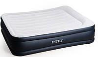 Надувная кровать со встроенным насосом intex 64136 (203х152х42)