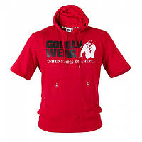 Толстовка с капюшоном Gorilla wear Boston Short Sleeve Hoodie (Red)