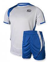 Футбольная форма Europaw 003 бело-синяя [S]