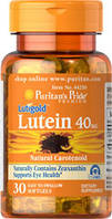 Препарат для улучшает работы глаз Puritan's Pride Lutigold Lutein 20 мг (30 капс)