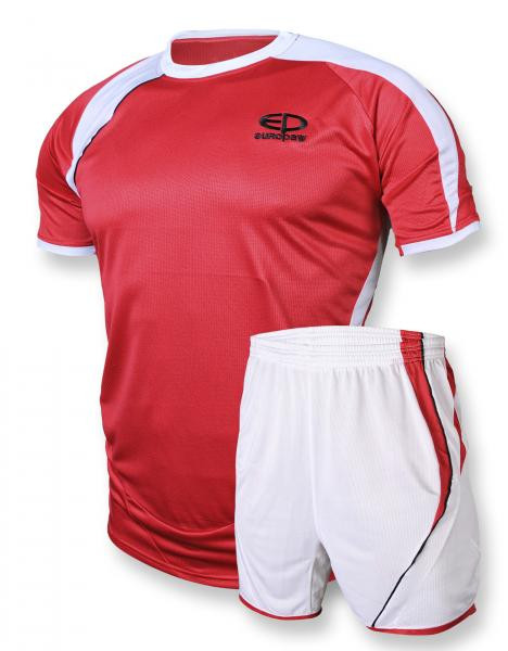 Футбольная форма Europaw 003 красно-белая [XS][S]