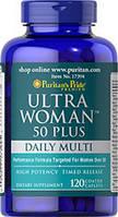 Витамины для женщин Puritan's Pride Ultra Woman 50 Plus (120 капс)