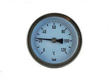 WATTS Термометр ТВО63 mm. L=45mm. 0-120 осевой