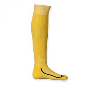 Футбольные гетры Europaw желтые с трикотажным носком, фото 2