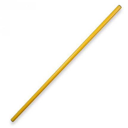 Палка гимнастическая 1м желтая, фото 2
