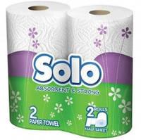 Полотенце бумажное Solo, 2-х слойное, 2 шт.