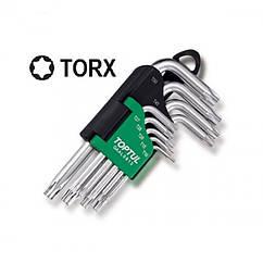 Набор Г-обр. ключей TORX T10-T50 9ед. длинных с отверстием и шаром Toptul GAAL0925