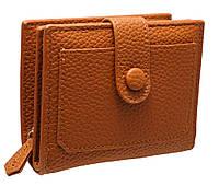 Женское портмоне на кнопке 16A7242 brown