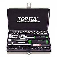 Набор инструмента Toptul 1/4 32ед. GCAD3202 вороток отвертка комплект популярных головок в переносном кейсе