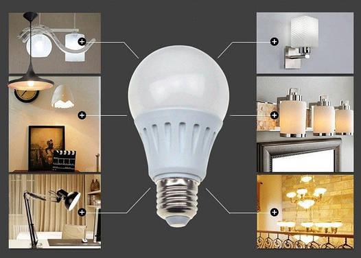 Светодиодная лампа 7W 12LED E27 Энергосберегающая!Акция