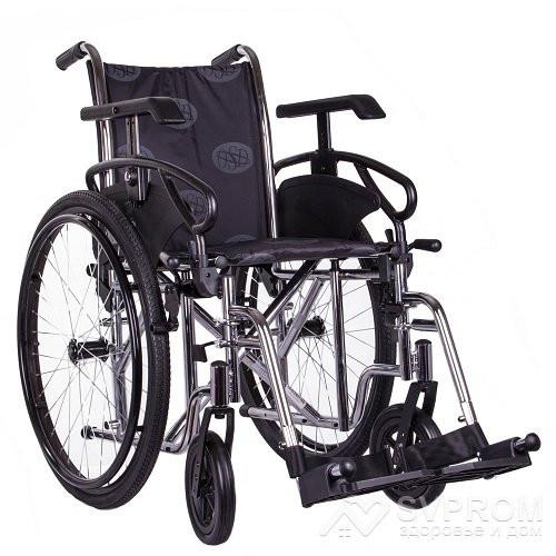 Коляска инвалидная OSD Millenium III, ширина 43 см, хром + насос OSD-STC3 - SVPROM - здоровье и дом в Киеве