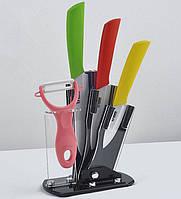 Керамические ножи на подставке 3шт.+овощечистка!