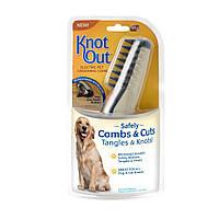 Расческа чесалка для кошек и собак Knot out!
