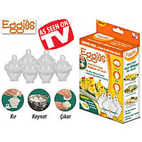 Яйцеварка-формы для варки яиц без скорлупы Eggies!