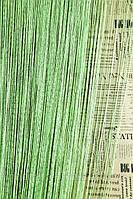 """Шторы-нити (кисея) однотонные """"дождик"""" (светло-салатовый) №15, фото 1"""