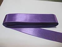 Стрічка атласна  двостороння 3 см ( 10 метрів) фіолетова світла G 321