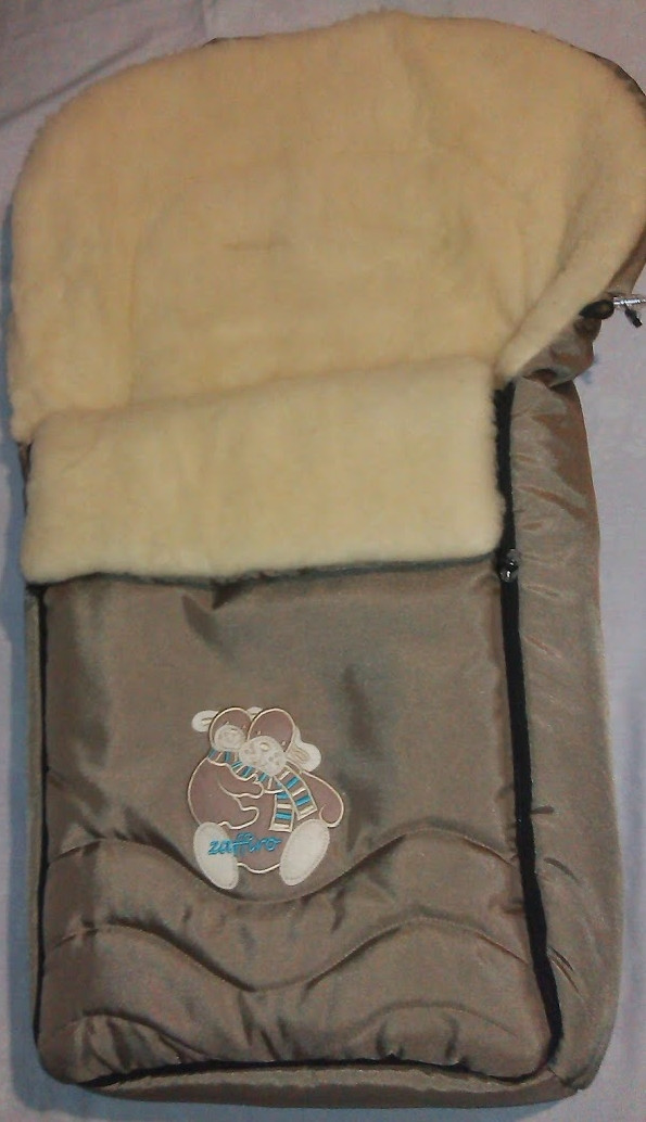 Зимний конверт на крашеной овчине № 40 Zaffiro, Womar