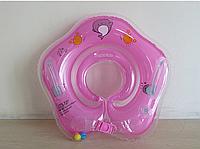 Круг двухкамерный с погремушками для купания малыша. Красный