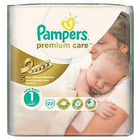 Подгузники Pampers Premium care 1 (2-5 кг) 22 шт.