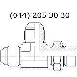 Регулируемый L-образный фитинг JIC, 7645, фото 3