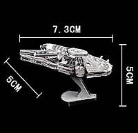 Металлический конструктор 3D puzzle Звездные Войны / Star Wars / Космический корабль Millennium Falcon, фото 1
