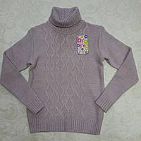 Вязаный свитер для девочки 128-152