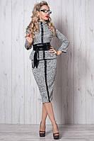 Молодежный  женский стильный  костюм  новинка  Чикаго  из трикотажа  размеры   40, 42, 44,46, 48 светло серый